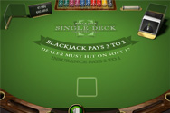 Black Jack Single Deck